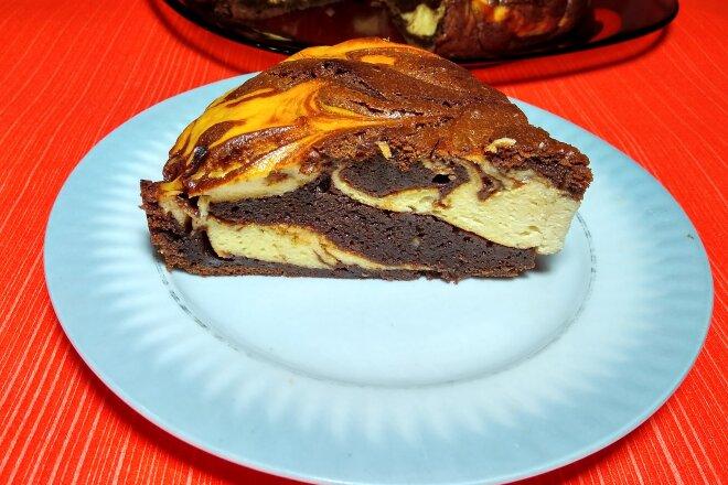 Шоколадно-банановый торт с творогом «Сюрреалист»
