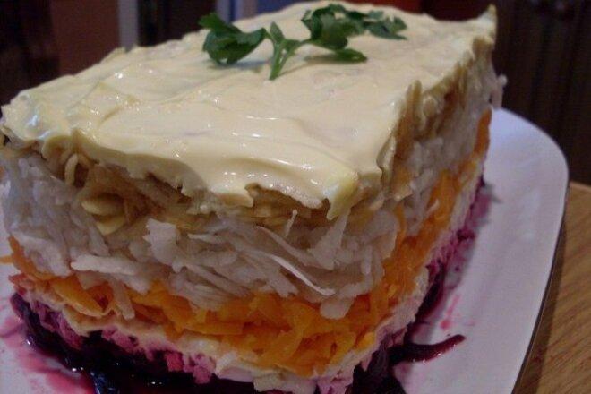Это не просто салат, а целый Витаминный тортик!!!