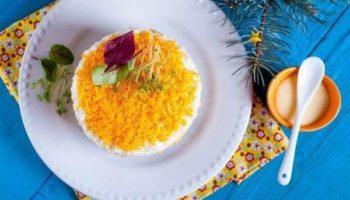 Рисовый салат с печенью и кукурузой
