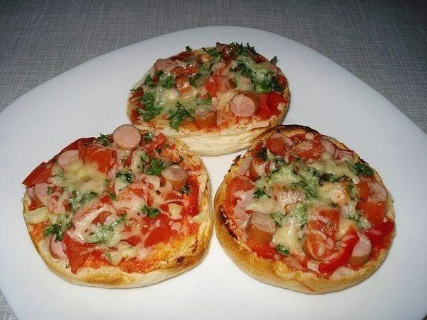 Супер-быстрые булочки-пиццы за 15 минут!
