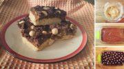 Песочное печенье с сгущеным молоком, шоколадом и орешками