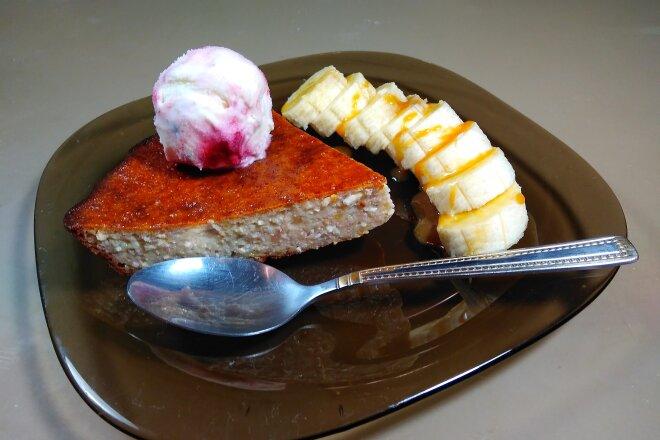 Банановый творожный рецепт запеканки - хороший десерт для детей и их родителей!