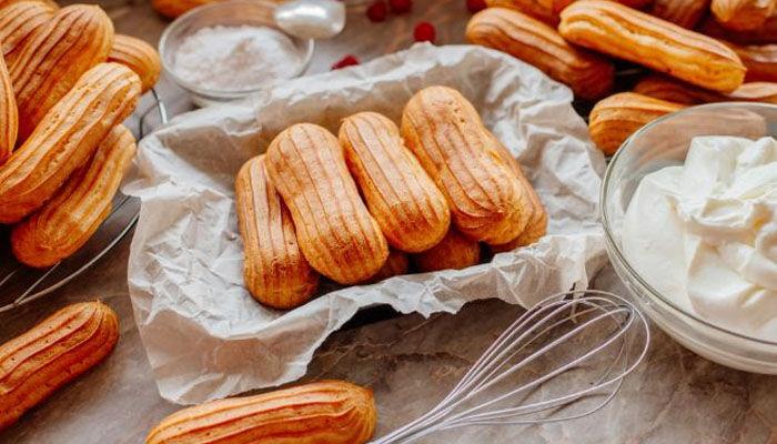 Готовим вкусные пирожные эклеры с творожным кремом