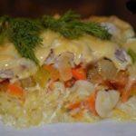Запеканка из макарон с курицей. Отличное блюдо из всего, что есть под рукой).