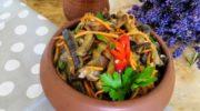 Корейская закуска из баклажанов