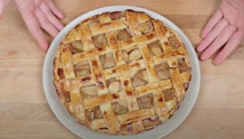 Неделя яблочных пирогов! Ароматных и вкусных! Простой яблочный пирог в духовке из песочного теста