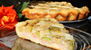 Пирог с кабачками на творожном тесте