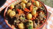 Хашлама по-армянски из говядины на пиве в казане