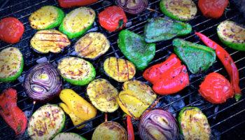 Очень эффектные овощи гриль