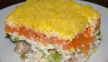 Настоящий рецепт салата «Мимоза»