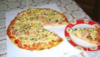 Пицца за 10 минут, быстро и вкусно!