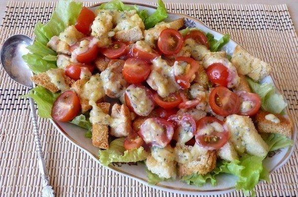 Самый настоящий салат Цезарь!