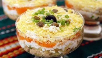 Слоенный салат «Пчелкин»