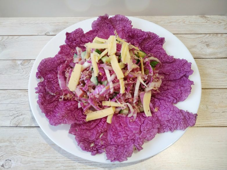 Легкий салат из пурпурной пекинской капусты (без майонеза)!