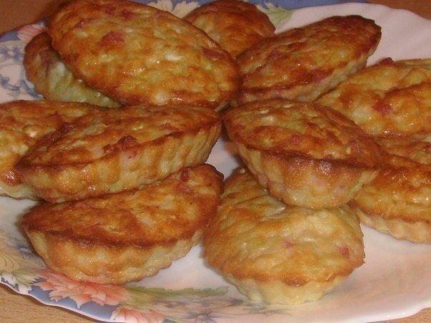 Очень вкусные капустные кексики на завтрак