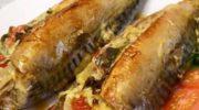 Фаршированная скумбрия в духовке! Рыбка готовится быстро, получается ароматно и вкусно!