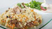 Плов из мякоти баранины на сковороде, рецепт с фото пошагово