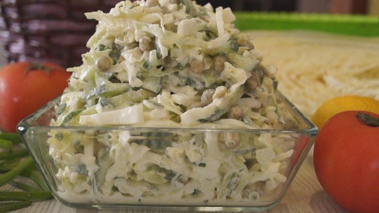 Очень нежный и вкусный салат «Пятиминутка»!