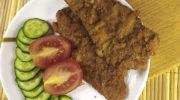Шницель из свинины на сковороде с овощами, рецепт с фото и видео