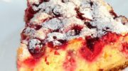 Нежный вишневый пирог на сметане, рецепт с фото