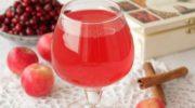 Яблочно-клюквенный компот с черносливом, рецепт с фото