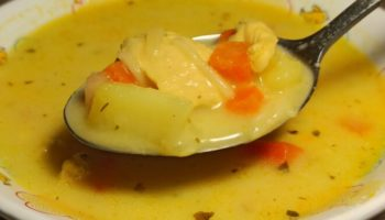 Сливочный суп с курицей и лапшой, рецепт с фото и видео