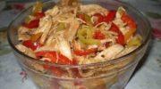 Салат «ХЕ», простой рецепт приготовления с курицей!
