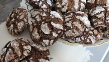 Шоколадно-ванильное печенье с трещинками, рецепт с фото