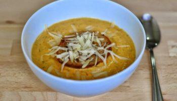 Сливочный суп-пюре с курицей, тыквой и сыром, рецепт с фото и видео