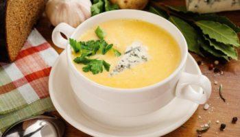 Английский куриный суп с плавленым сыром и рисом, рецепт с фото