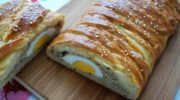 Бездрожжевой пирог на кефире с фаршем и яйцом, рецепт с фото