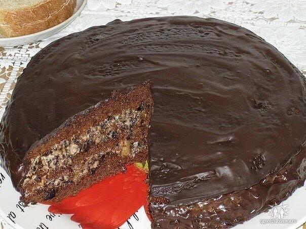 Чернослив в шоколаде, безумно вкусный тортик!