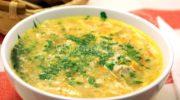 Куриный суп с яйцом.
