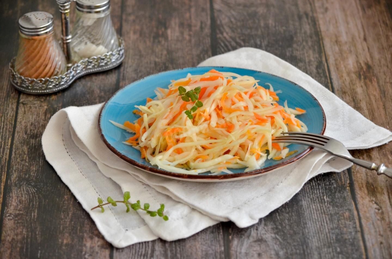 Caлaт из моркови и кaпусты