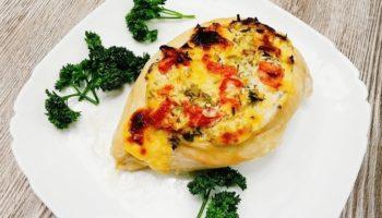 Куриная грудка с сыром и зеленью