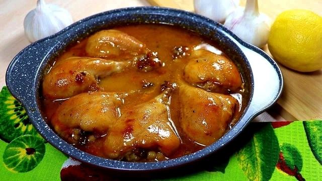 Куриные ножки в медово-лимонном маринаде