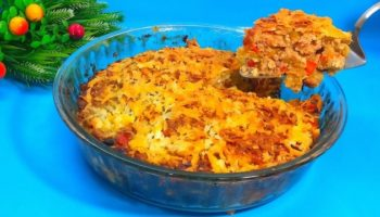 Ленивый ужин из лаваша и фарша, простой и быстрый рецепт