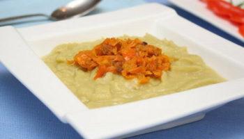 Гороховая каша со сливками и болгарским перцем, рецепт с фото