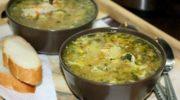 Куриный суп (с яйцом)