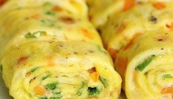 Омлет с овощами. Вкусный завтрак за 5 минут.