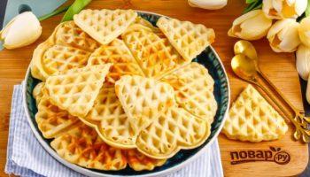 Лимонные вафли