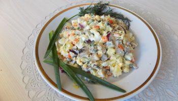 Салат из селедки с картофелем и яйцами