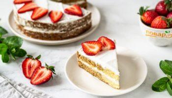 Веганский торт с кокосовыми сливками