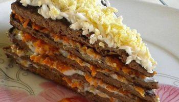 Печёночный тортик.