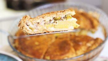Царский пирог «Курник» с курицей и картошкой в духовке