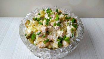 Салат с фасолью (без майонеза), обязательно попробуйте!
