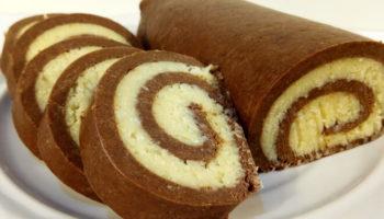 Быстрый рулет «Баунти» из печенья, рецепт с фото