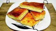 Слоеный пирог с двумя видами сыра в духовке, рецепт с фото
