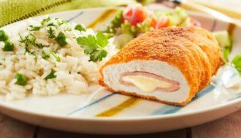 Куриное филе с сыром и ветчиной Le Cordon Bleu, рецепт с фото