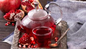 Красный чай каркаде с гранатовым соком, рецепт с фото